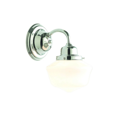 Hudson Valley Lighting Sconce Wall Light with White Glass in Polished Nickel Finish 4601-PN