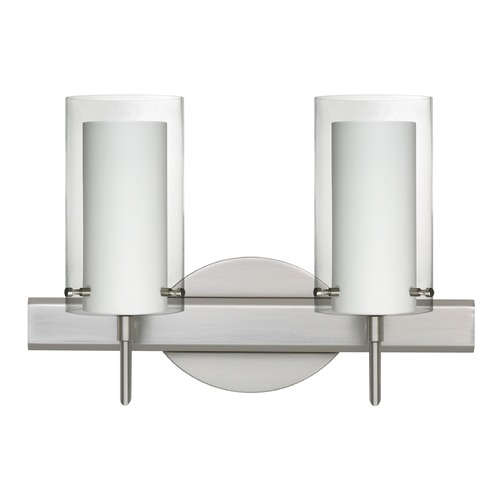 Besa Lighting Besa Lighting Pahu Satin Nickel Bathroom Light 2SW-C44007-SN