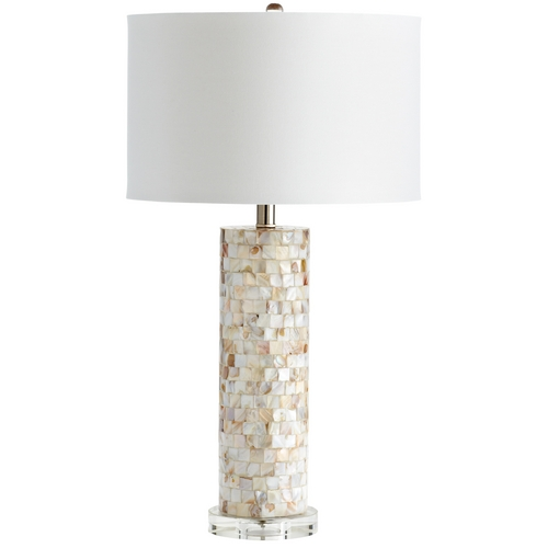 Cyan Design Cyan Design West Palm Mother Of Pearl Table Lamp with Drum Shade 05309-1