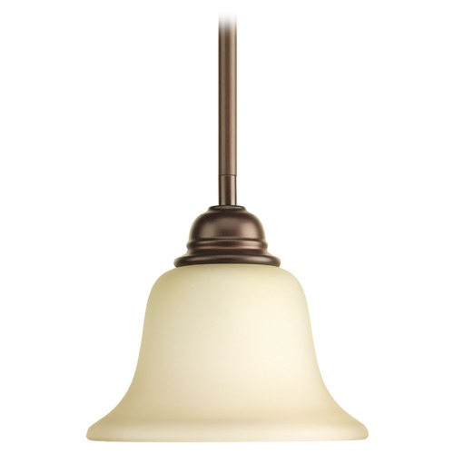 Progress Lighting Progress Lighting Spirit Antique Bronze Mini-Pendant Light with Bell Shade P5160-20