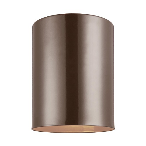 Sea Gull Lighting Sea Gull Lighting Outdoor Bullets Bronze Close To Ceiling Light 7813801-10