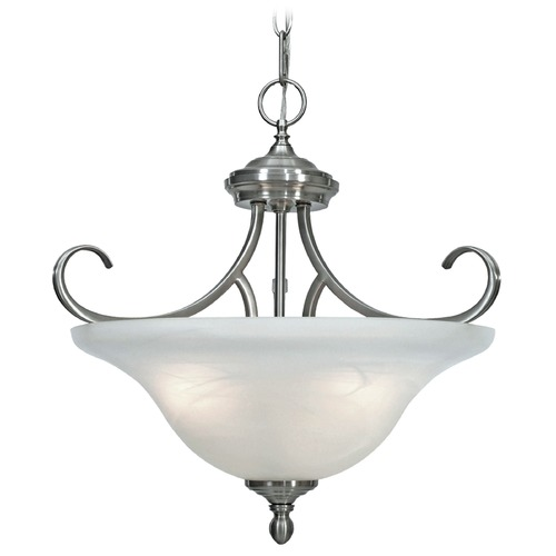 Golden Lighting Golden Lighting Lancaster Pewter Pendant Light 6005-SF PW