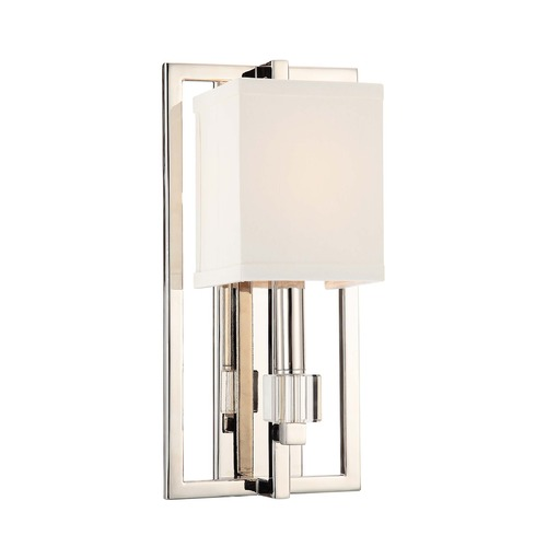 Crystorama Lighting Crystorama Lighting Dixon Polished Nickel Sconce 8881-PN
