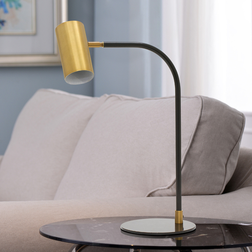 House of Troy Lighting House of Troy Cavendish Weathered Brass / Black LED Desk Lamp C350-WB/BLK