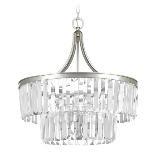 Progress Lighting Progress Lighting Glimmer Silver Ridge Pendant Light P5321-134
