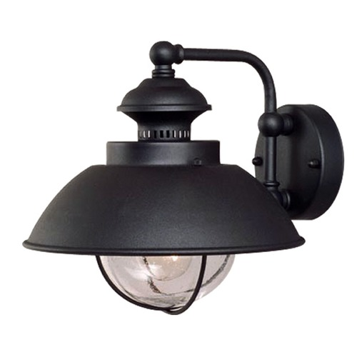 Vaxcel Lighting Seeded Glass Outdoor Wall Light Black Vaxcel Lighting OW21501TB