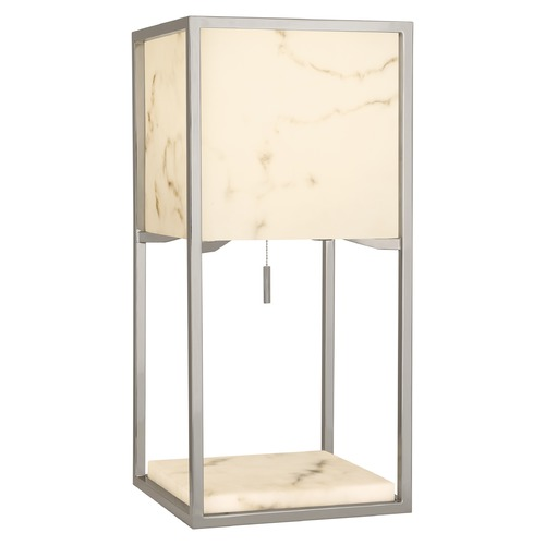 Robert Abbey Lighting Robert Abbey Lighting Rubix Polished Nickel Table Lamp with Square Shade S1448