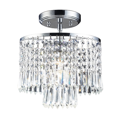 Elk Lighting Modern Semi-Flushmount Light in Polished Chrome Finish 1991/1