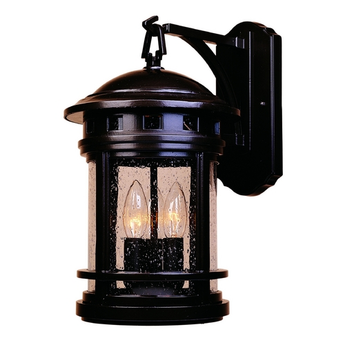 Designers Fountain Lighting Seeded Glass Outdoor Wall Light Oil Rubbed Bronze Designers Fountain Lighting 2391-ORB