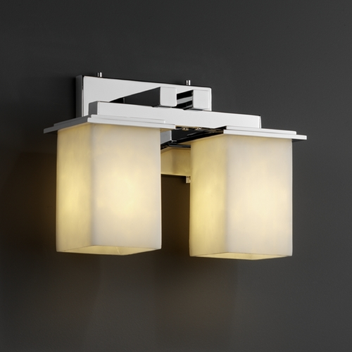 Justice Design Group Justice Design Group Clouds Collection Bathroom Light CLD-8672-15-CROM