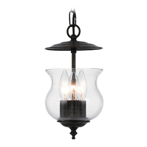 Crystorama Lighting Mini-Pendant Light with Clear Glass 5717-EB