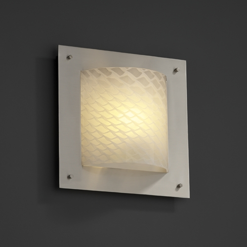 Justice Design Group Justice Design Group Fusion Collection Sconce FSN-5561-WEVE-NCKL