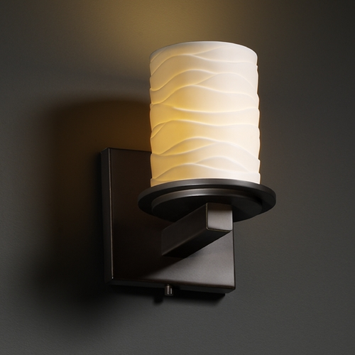 Justice Design Group Justice Design Group Limoges Collection Sconce POR-8771-10-WAVE-DBRZ