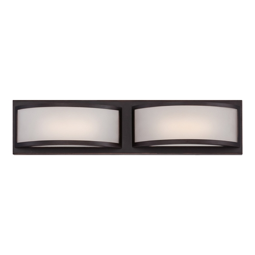 Nuvo Lighting Modern LED Bathroom Light with White Glass in Georgetown Bronze Finish 62/315