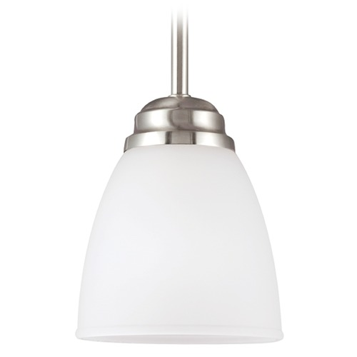 Sea Gull Lighting Sea Gull Lighting Northbrook Brushed Nickel Mini-Pendant Light 6112401-962