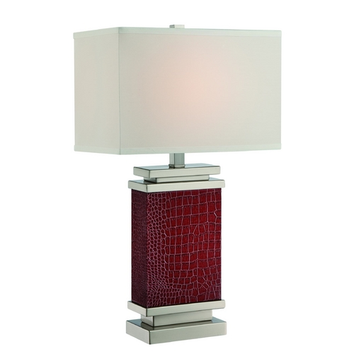Lite Source Lighting Lite Source Lighting Kelis Brown Table Lamp with Rectangle Shade LS-22441