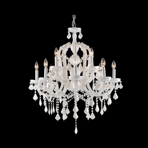 Avenue Lighting Avenue Lighting Casablanca Way White Crystal Chandelier HF1039-WHT