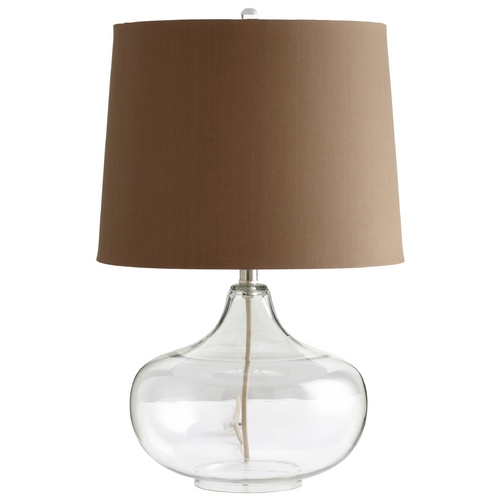 Cyan Design Cyan Design See Through Clear Table Lamp with Drum Shade 05310-1