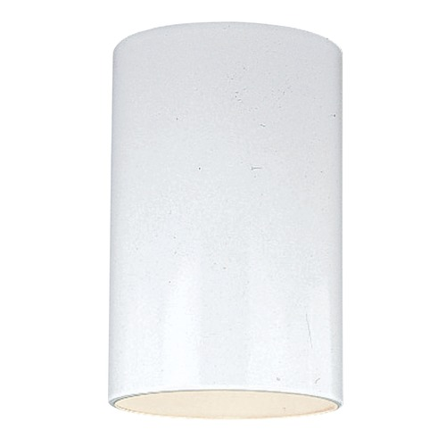 Sea Gull Lighting Sea Gull Lighting Outdoor Bullets White Close To Ceiling Light 7813801-15