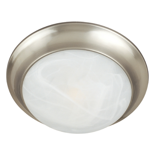 Maxim Lighting Maxim Lighting Essentials Satin Nickel Flushmount Light 5850MRSN