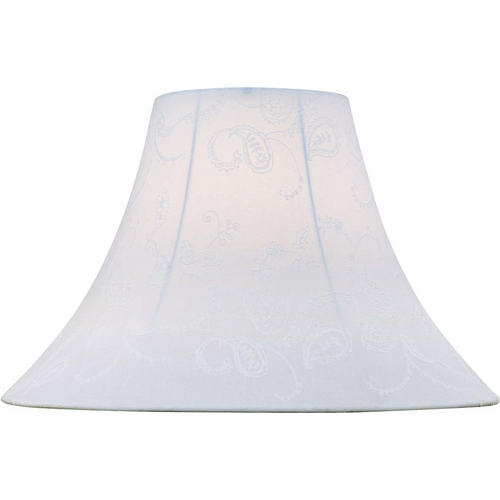 Lite Source Lighting Off-White Bell Lamp Shade with Spider Assembly CH1149-18