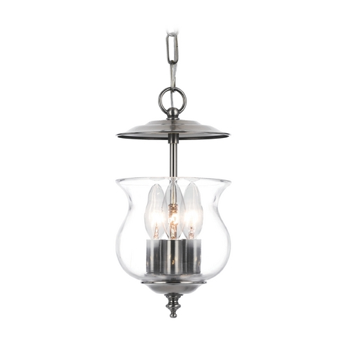 Crystorama Lighting Mini-Pendant Light with Clear Glass 5717-PW