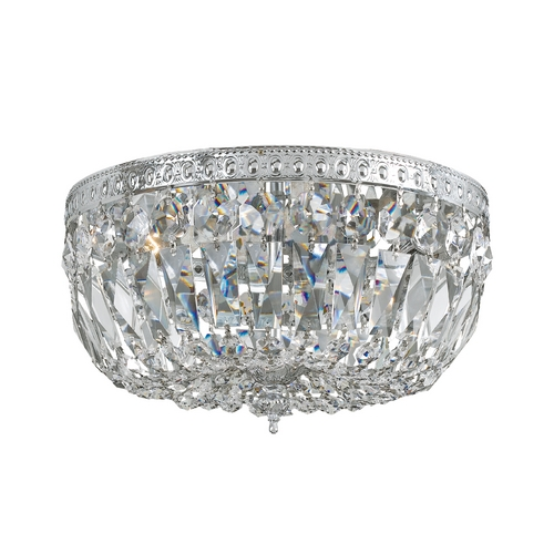 Crystorama Lighting Crystal Semi-Flushmount Light in Polished Chrome Finish 712-CH-CL-MWP
