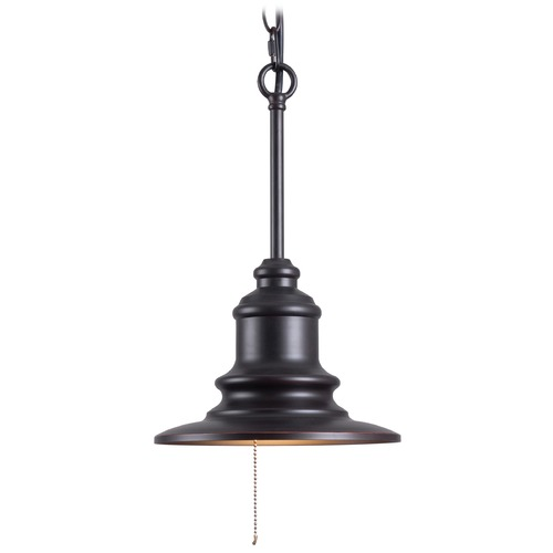 Kenroy Home Lighting Kenroy Home Lighting Broadcast Oil Rubbed Bronze with Copper Highlights Outdoor Hanging Light 93031ORB