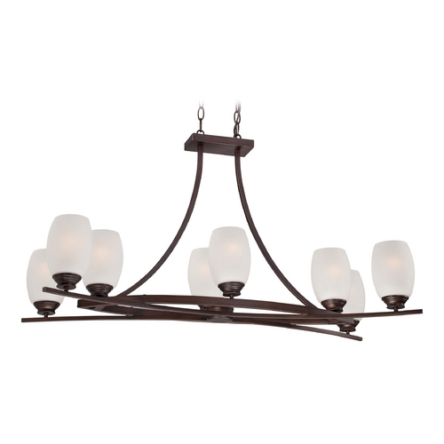 Minka Lavery Island Light with White Glass in Dark Brushed Bronze Finish 4958-267B
