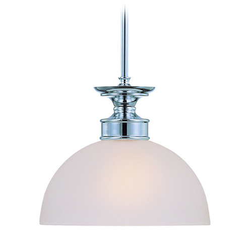 Craftmade Lighting Craftmade Spencer Chrome Mini-Pendant Light with Bowl / Dome Shade 26121-CH