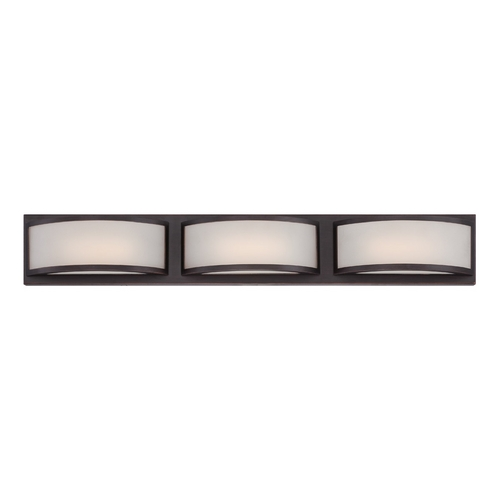 Nuvo Lighting Modern LED Bathroom Light with White Glass in Georgetown Bronze Finish 62/316