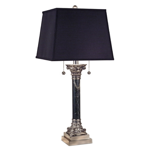 Stiffel Lighting Table Lamp with Black Shade in Pol Nickel W/ Black Antique Finish TL-6693-A2271-PNB