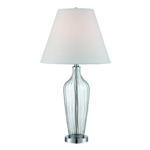 Lite Source Lighting Lite Source Lighting Emilie Chrome Table Lamp with Coolie Shade LS-22443