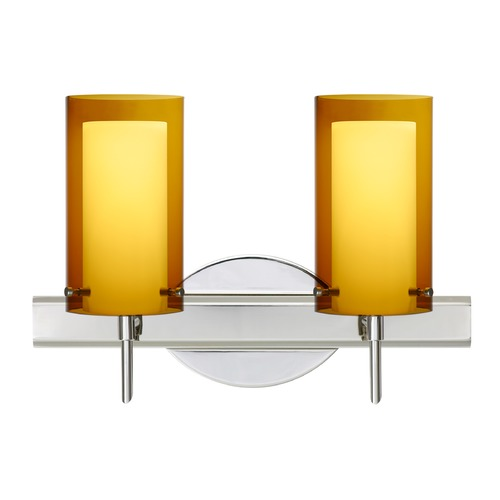 Besa Lighting Besa Lighting Pahu Chrome Bathroom Light 2SW-G44007-CR