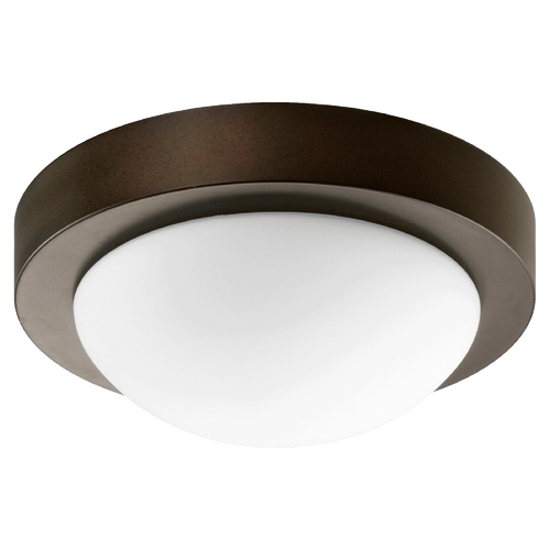 Quorum Lighting Quorum Lighting Oiled Bronze Flushmount Light 3505-9-886