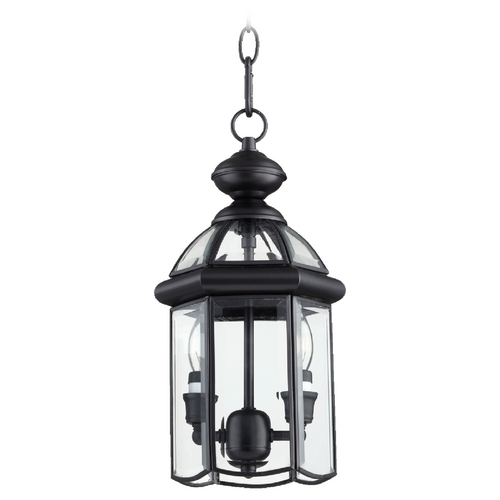 Quorum Lighting Quorum Lighting Wellsley Gloss Black Outdoor Hanging Light 735-2-15