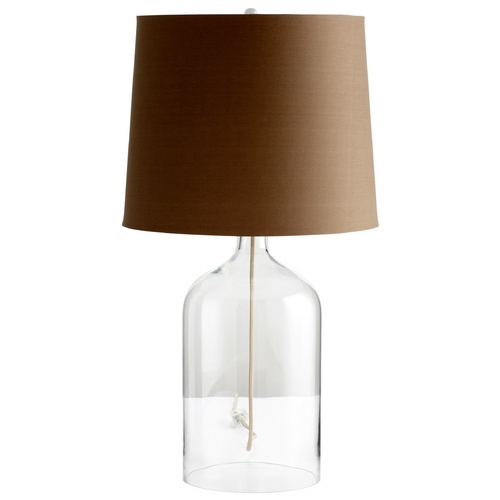 Cyan Design Cyan Design See Through Clear Table Lamp with Drum Shade 05311-1