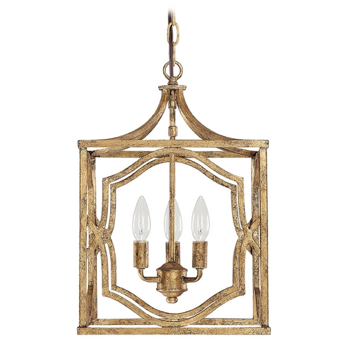 Capital Lighting Capital Lighting Antique Gold Pendant Light 9481AG