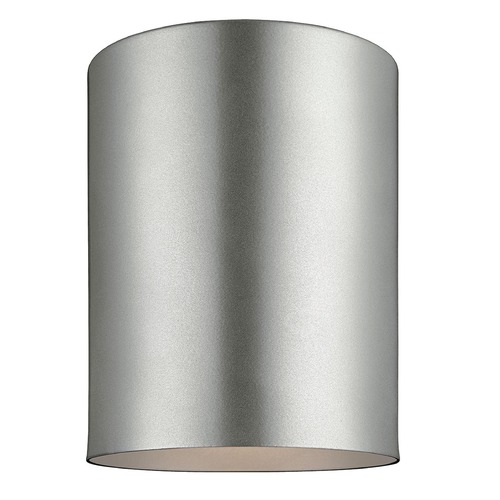 Sea Gull Lighting Sea Gull Lighting Outdoor Bullets Painted Brushed Nickel Close To Ceiling Light 7813801-753