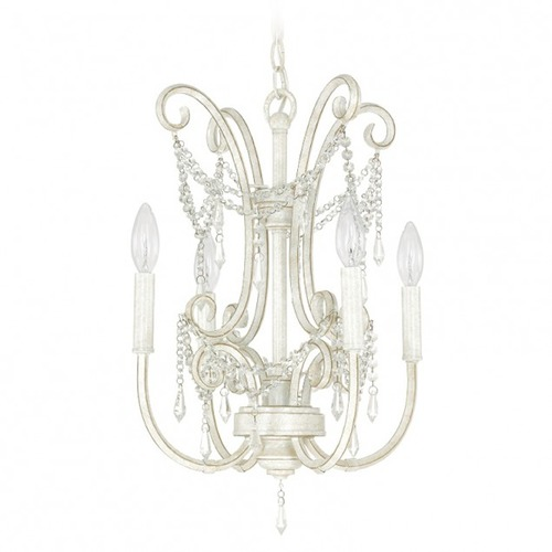 Capital Lighting Capital Lighting Capital Chandelier French White Mini-Chandelier 4802FW-CR