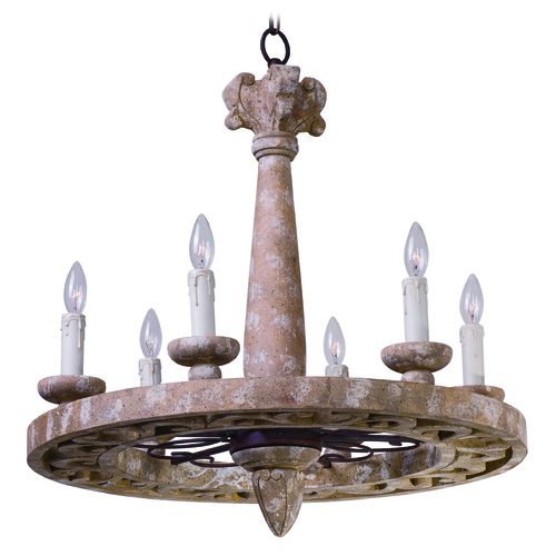Maxim Lighting Maxim Lighting International Olde World Senora Wood Chandelier 39615SW