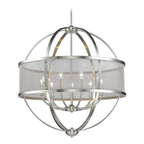 Golden Lighting Golden Lighting Colson Pw Pewter Chandelier 3167-9 PW-PW