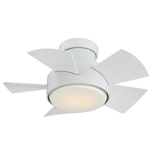 Modern Forms by WAC Lighting Modern Forms Matte White 26-Inch LED Smart Ceiling Fan 2041LM 3000K FH-W1802-26L-MW