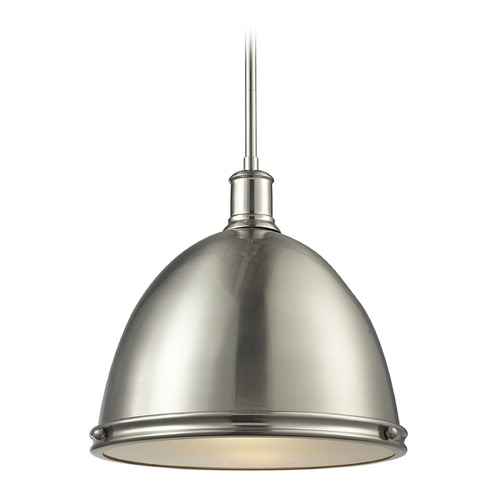 Z-Lite Z-Lite Mason Brushed Nickel Pendant Light with Bowl / Dome Shade 710P13-BN