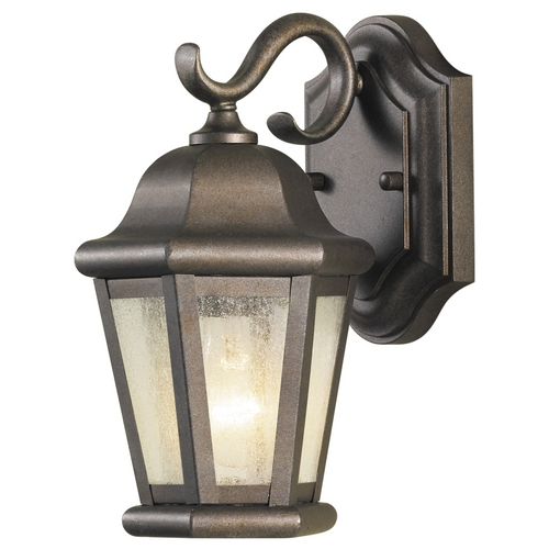 Feiss Lighting Outdoor Wall Light with Clear Glass in Corinthian Bronze Finish OL5900CB