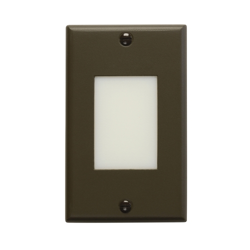 Kichler Lighting Kichler LED Recessed Step Light in Architectural Bronze Finish 12604AZ