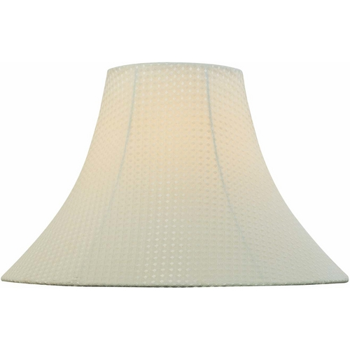 Lite Source Lighting Cream Bell Lamp Shade with Spider Assembly CH1166-16