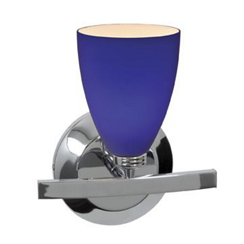 Access Lighting Modern Sconce Light with Blue Glass in Chrome Finish 63811-19-CH/COB