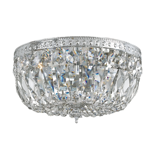 Crystorama Lighting Crystal Flushmount Light in Polished Chrome Finish 712-CH-CL-S