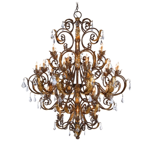 Currey and Company Lighting Chandelier in Venetian/Gold Leaf/Swarovski Crystal Finish 9530